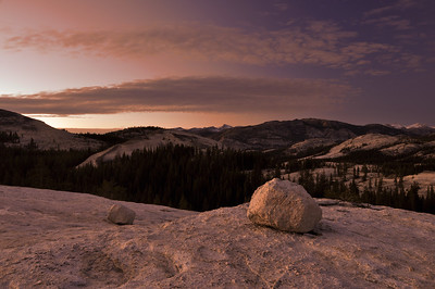 Sunset Atop Pothole Dome, Yosemite National Park, California.  Copyright © 2010 All rights reserved.