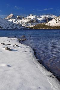 Saddlebag Lake (morning). Eastern Sierra Nevada Range, California.  Copyright © 2010