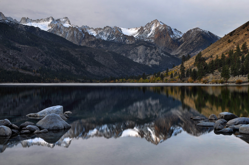 Sawtooth Range Reflected in Lower Twin Lake