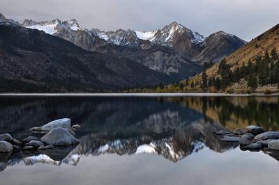 Sawtooth Range Reflected in Lower Twin Lake