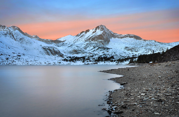 Saddle Bag Lake and North Peak (morning).  Sierra Nevada Range, California.  Copyright © 2010 All rights reserved.