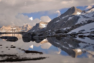 Reflections in the Nine Lake Basin Sequoia National Park, California. Copyright © 2010 All rights reserved.