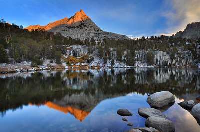 Reflections in Upper Kearsarge Lake.  Copyright © 2010 All rights reserved.