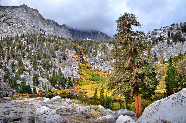 Fall Colors Near Pothole Lake.  Sierra Nevada Range, California.  Copyright © 2010 All rights reserved.