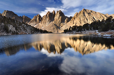 Kearsarge Pinnacles Reflection.  Copyright © 2010 All rights reserved.