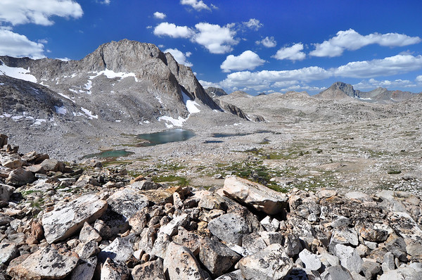 Mount Huxley and Lake 11,293'.  Copyright © 2010 All rights reserved.