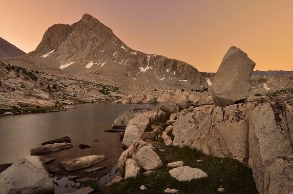 Mount Huxley and Sapphire Lake (morning).  Copyright © 2010 All rights reserved.