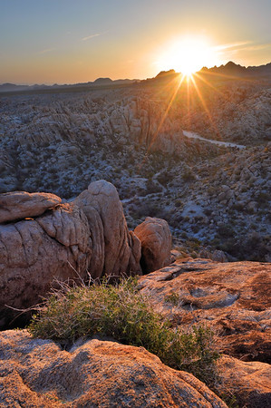 Sunset in the Mountains Near Kelso Mojave Desert National Preserve, California.  Copyright © 2011 All rights reserved.