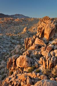 Last Light on the Rocks Mojave Desert National Preserve, California.  Copyright © 2011 All rights reserved.