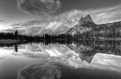Evening Reflections in Cathedral Lake Yosemite National Park, California. Copyright © 2011 All rights reserved.