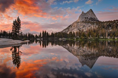 Last Light at Cathedral Lake II