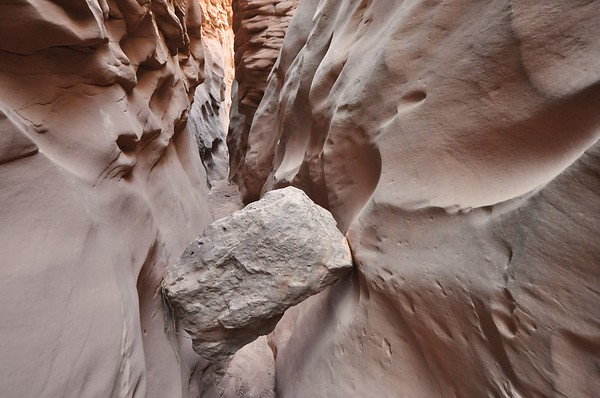 Moonshine Slot Canyon Chockstone
