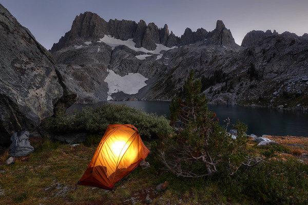 My camp at Iceberg Lake Inyo National Forest, California. Copyright © 2012 All rights reserved.