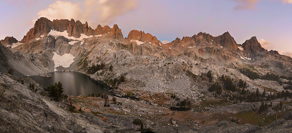 Panorama of the Minarets, Banner, and Ritter Inyo National Forest, California. Copyright © 2012 All rights reserved.