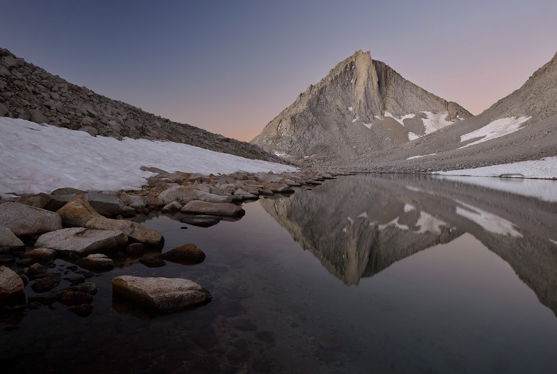 Merriam Peak Reflected in Royce Lake