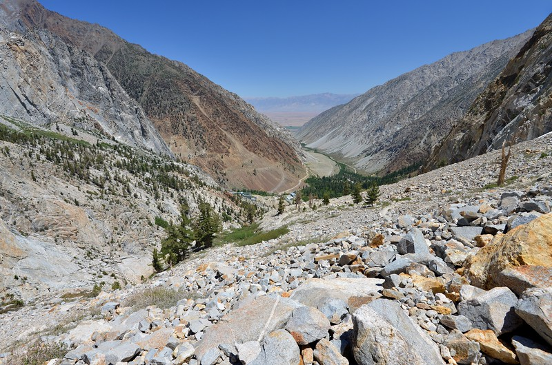 Looking Back Down Pine Creek Canyon Inyo National Forest, California. Copyright © 2012 All rights reserved