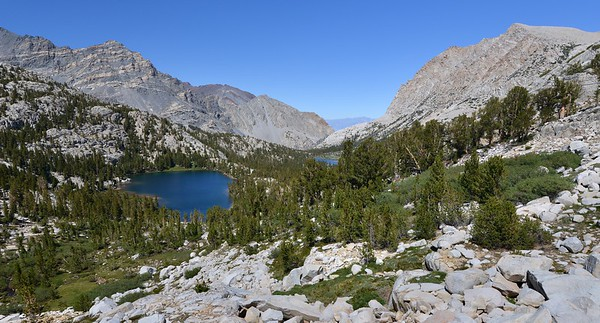 Looking Back at the Pine Creek Lakes Inyo National Forest, California. Copyright © 2012 All rights reserved