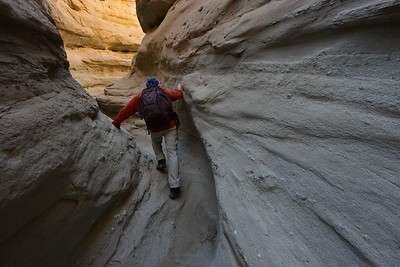 Self Portrait in Palm Wash Slot Canyon Anza-Borrego Desert State Park, California.  Copyright © 2012 All rights reserved.