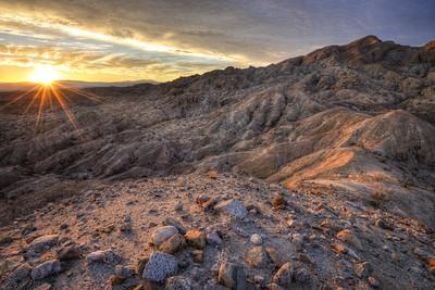 Travelers Peak Sunset Anza-Borrego Desert State Park, California.  Copyright © 2012 All rights reserved.