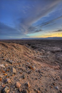 Sunset Above Palm Wash Canyon Anza-Borrego Desert State Park, California.  Copyright © 2012 All rights reserved.