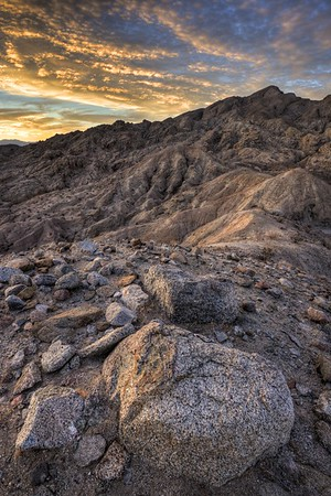 Sunset Above Travelers Peak Anza-Borrego Desert State Park, California.  Copyright © 2012 All rights reserved.