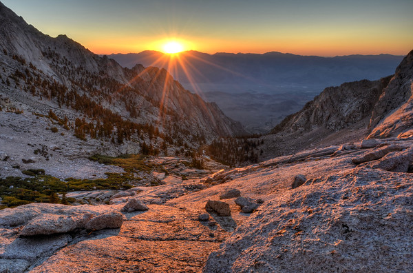 Sunrise and the North Fork of Lone Pine Inyo National Forest, California.  Copyright © 2012 All rights reserved.
