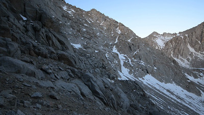 Video taken approximately 3/4 of the way up the south chute, just before the climbing section......