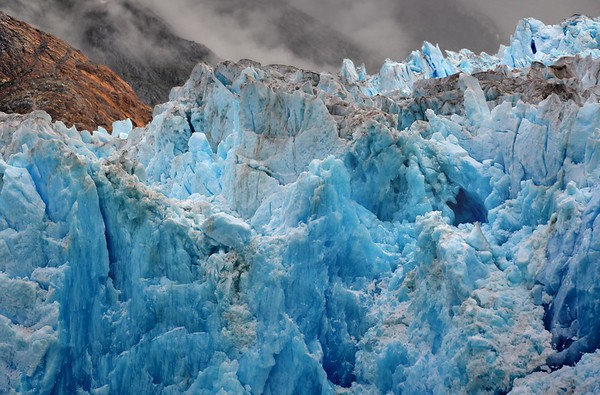 Blue Ice of the South Sawyer Glacier