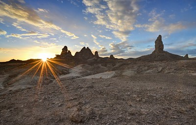 Trona Pinnacles Sunset