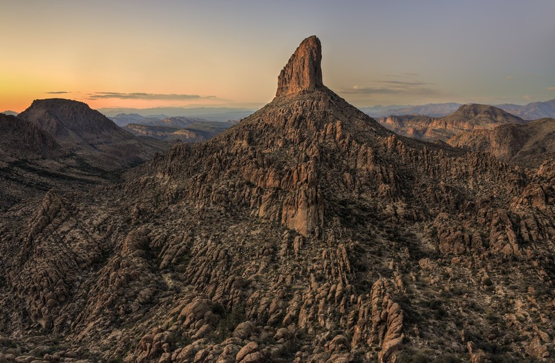 Weavers Needle After Sunset Tonto National Forest, Arizona.  Copyright © 2013 All rights reserved