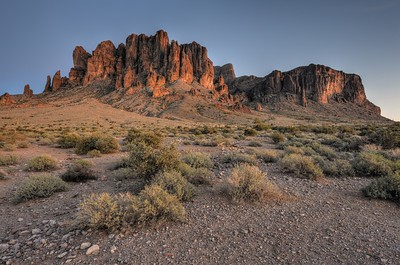 Western Edge of the Superstition Mountains Lost Dutchman State Park, Arizona.  Copyright © 2013 All rights reserved