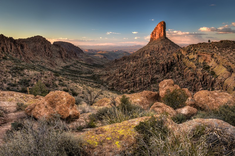 Weavers Needle at Sunset Tonto National Forest, Arizona.  Copyright © 2013 All rights reserved