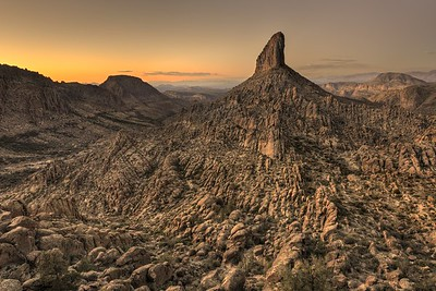 Weavers Needle After Sunset