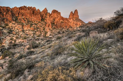 Weavers Needle at Sunrise Tonto National Forest, Arizona.  Copyright © 2013 All rights reserved