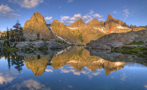 Minarets Reflected in Minaret Lake