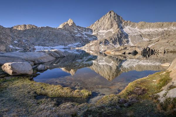 Sawtooth Peak Reflected in Columbine Lake