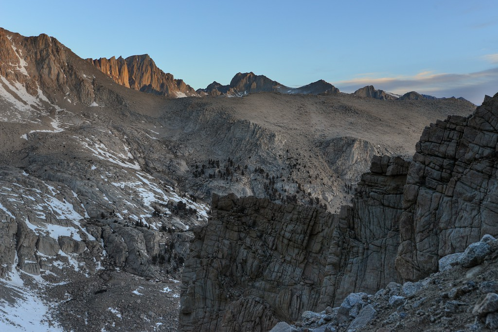 The Sun illuminates Mount Whitney  Inyo National Forest, California.  Copyright © 2013 All rights reserved.