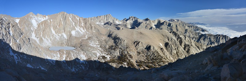 Pano from the south chute<br /> Inyo National Forest, California.<br /> <br /> Copyright © 2013<br /> All rights reserved.