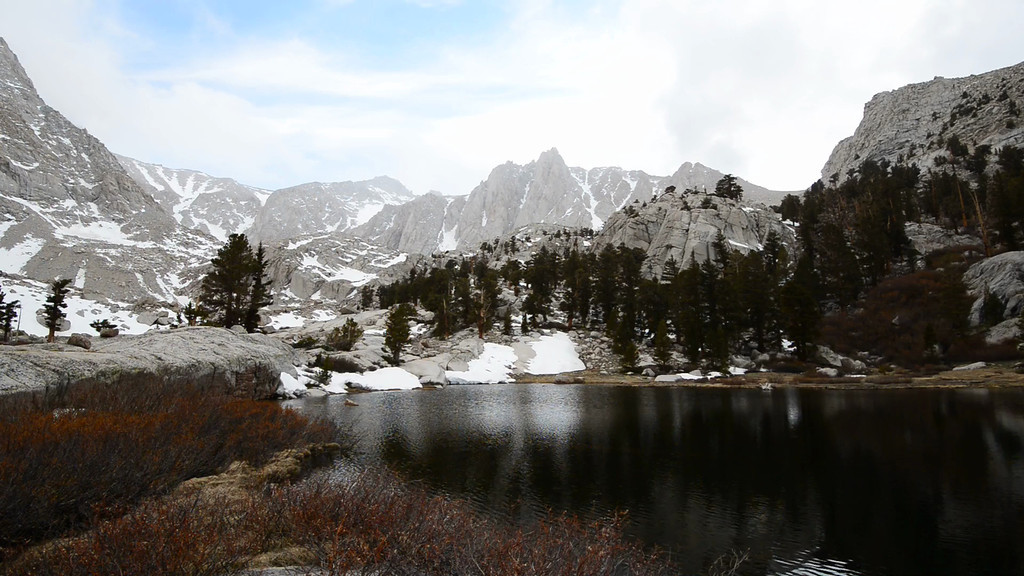 A short video of Mount Irvine and Camp Lake.  My camp is just off to the left of the lake, near the granite slab and trees.....