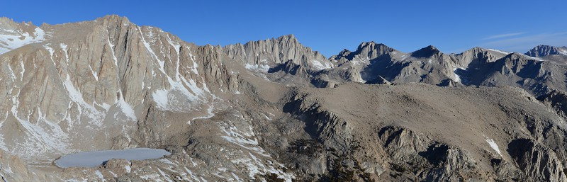 Pano of the Meysan Basin with 14er's in the background  Inyo National Forest, California.  Copyright © 2013 All rights reserved.