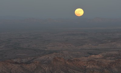 Full Moon rise from the summit
