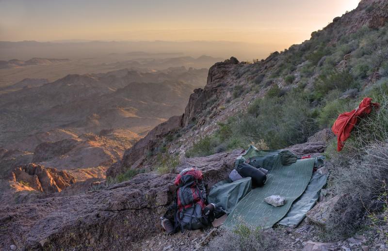My Camp Below the Summit