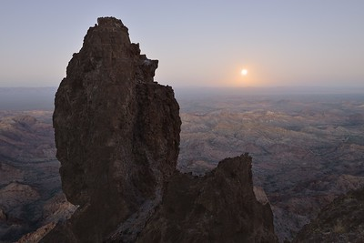 Full Moon Rise from Castle Dome Kofa National Wildlife Refuge, Arizona Copyright © 2013