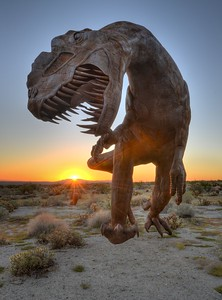 Dinosaur and Sunrise Borrego Springs, California. Copyright © 2013 All rights reserved.