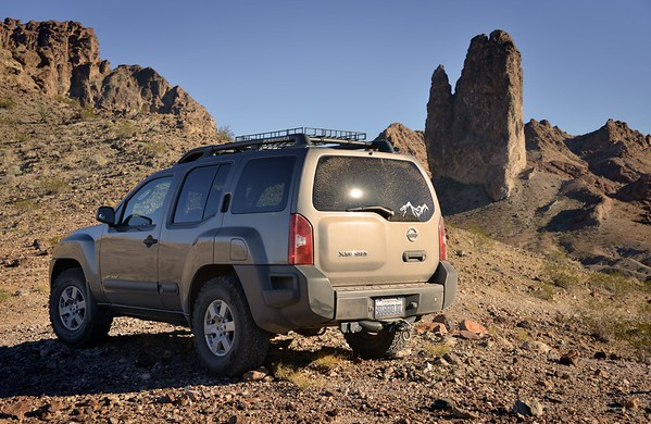 """My Xterra and """"The Glove""""  Picacho Peak Wilderness, California Copyright © 2013 All rights reserved."""