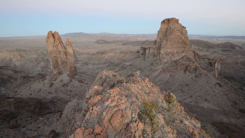 Video prior to sunrise on an unnamed peak south of Picacho.  A little windy. Picacho Peak Wilderness, California Copyright © 2013 All rights reserved.