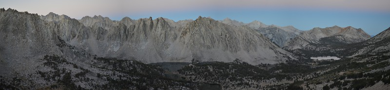 Panorama West of Kearsarge Pass