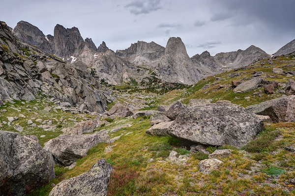 Cirque of the Towers From Near Jackass/Big Sandy Pass