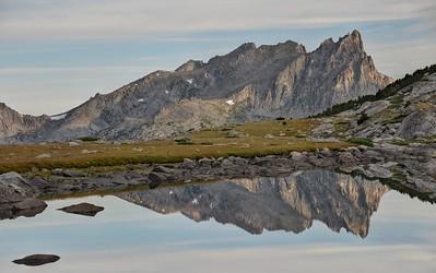 Warbonnet Peak Reflected in a Tarn Near Temple Lake