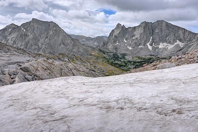 Large Icefield Below Texas Pass